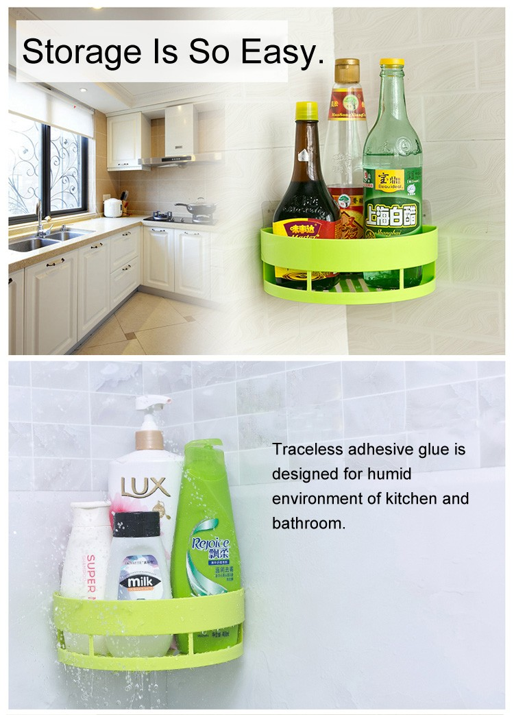 Plastic Corner Shelf Adhesive Bathroom Shelf Bathroom Corner Shelf