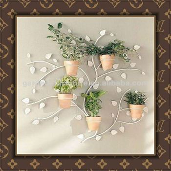 Whole Handicraft Metal Wall Mounted Plant Pots Wrought Iron Planter