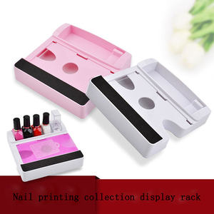 Free Standing Wholesale Stamping Custom Nail Tool Box Essie Clear Acrylic Rotating Opi Nail Polish Display Rack