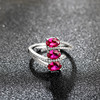Fancy Costume Jewelry 925 Silver Ring with Precious Stone Jewellery