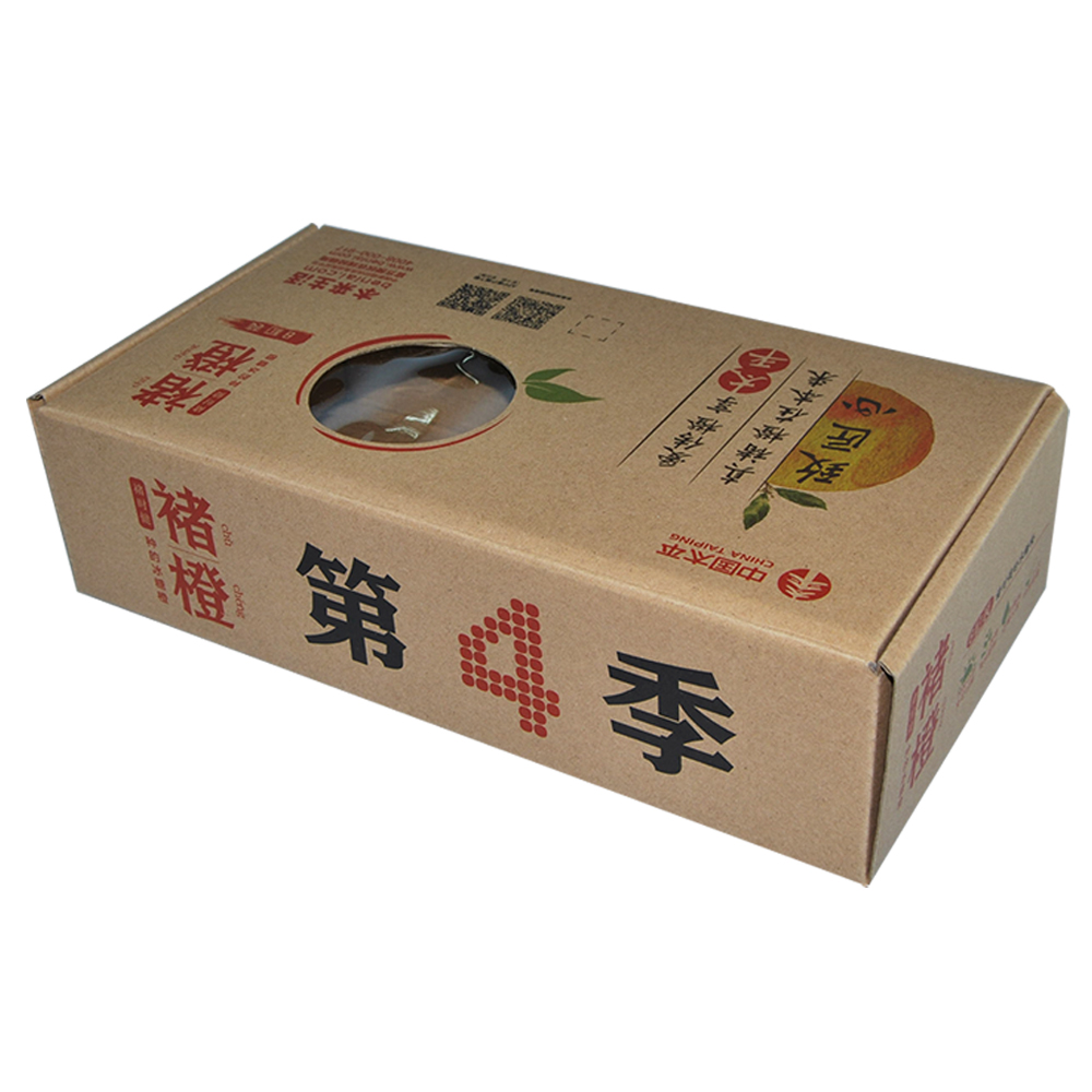 Roll End Tuck Top Corrugated cardboard box with window Custom fruit Packaging
