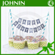 decoration banner polyester custom fabric cake bunting for display