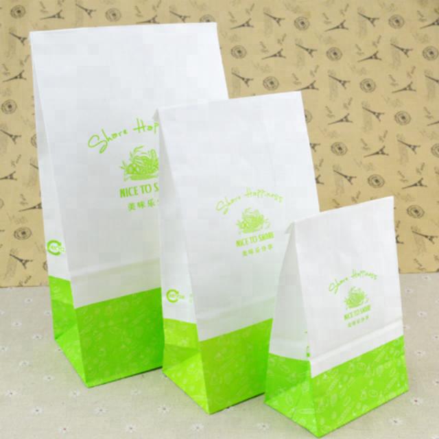 Custom Gedrukt Clear Window Bakkerij Verpakking Kraft Papieren Zakken