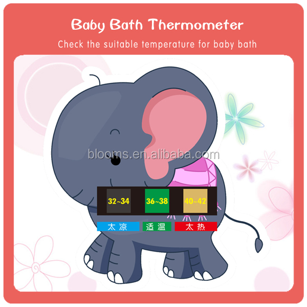 Liquid Crystal baby Bath water temperature testing Thermometer