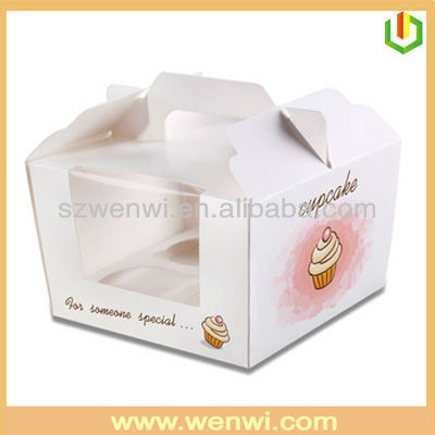 Clear pvc window giant cupcake box with handle