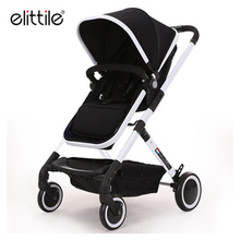 Aluminum special frame polyester materia baby stroller Large stroller