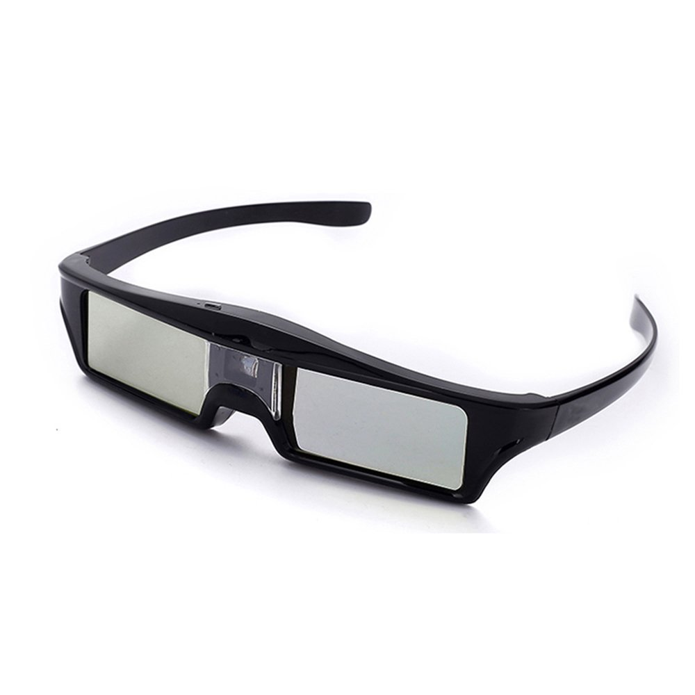 Salange 3D Glasses Ultra-Clear 144 Hz DLP LINK 3D Active Rechargeable Shutter Glasses for All DLP-Link 3D Projector