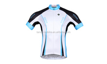 Men's Sublimated Print Race Cut Short-Sleeve White Biking Cycling Jersey