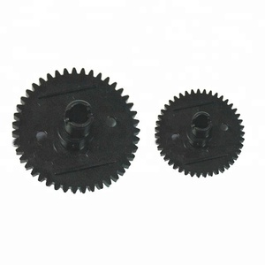 High Quality Customized Straight Tooth Gear Plastic Black Spur Gear