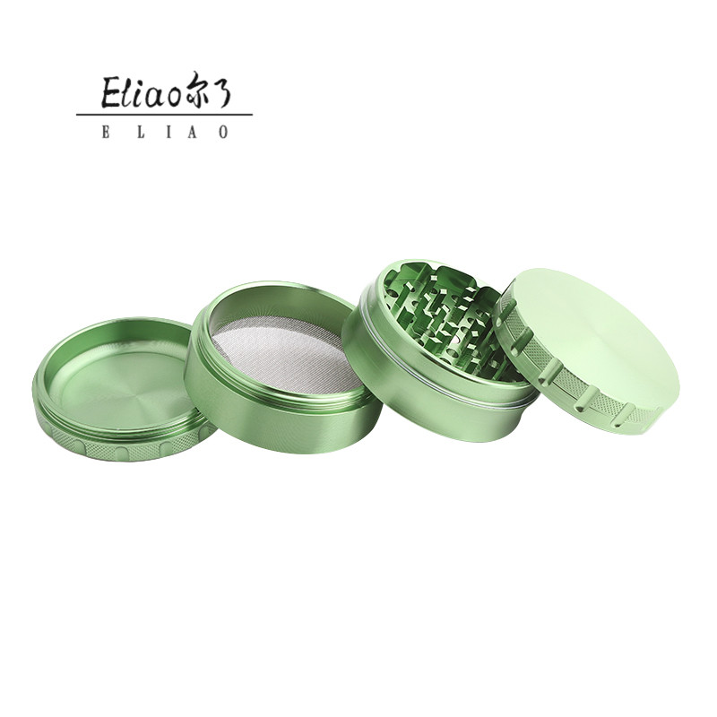 Yiwu Erliao Mixed Color Herb Grinder For Tobacco 60mm 4 piece Customer logo Herb Grinder Metal