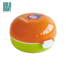 GOUD SIGHT fabriek Nieuwe Kinderen lunch box, ronde <span class=keywords><strong>hamburger</strong></span> lunch box, Food grade PP