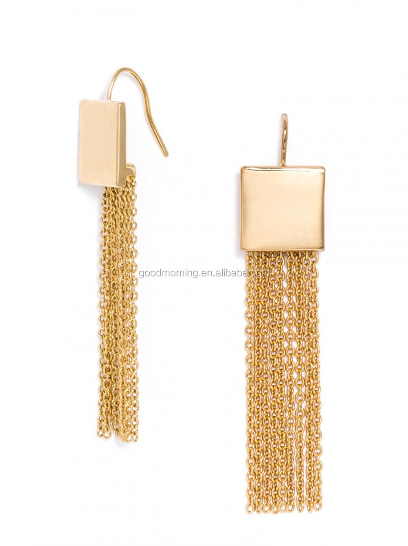 Monogram Enamel Disc Blanks Stud Earrings