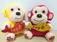 HI promotional custom 2016 mascot monkey stuffed plush toy in special price