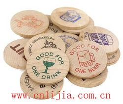 Wooden board game tokens / gaming tokens