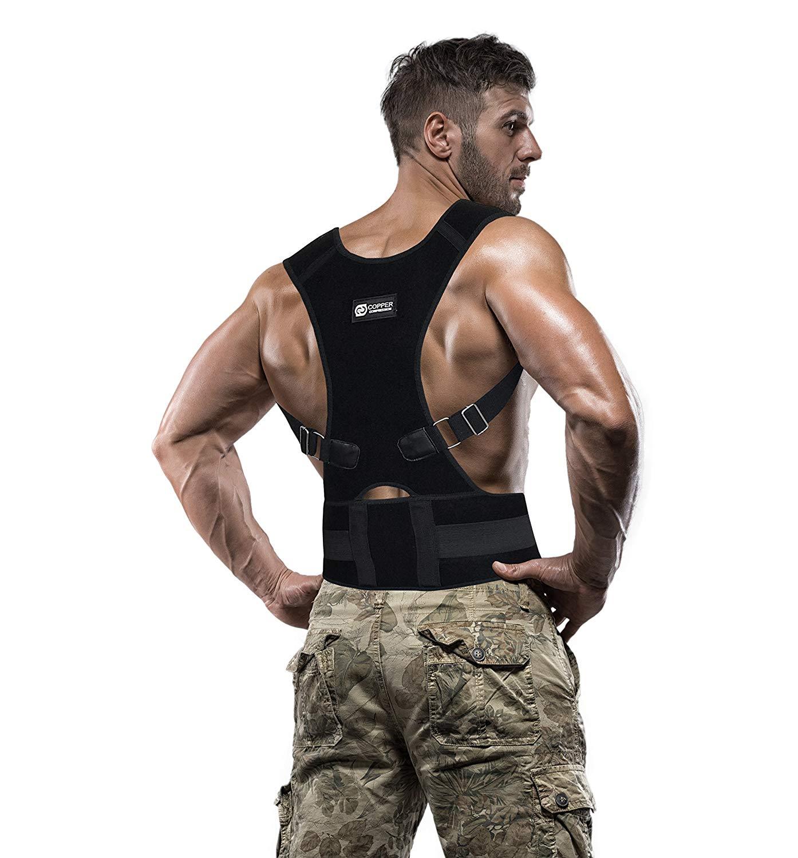 9ef8acc37 Get Quotations · Copper Compression Posture Corrector - Guaranteed Highest  Copper Content Adjustable Posture Support Back Brace Fit for
