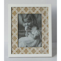 Wall mounted decoration dressed wooden picture frame