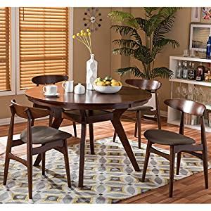 Flamingo Mid-Century Solid Wood 5 Pieces Dining Set