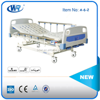 Cheap price three functions manual nursing bed for complete care of bedridden patients
