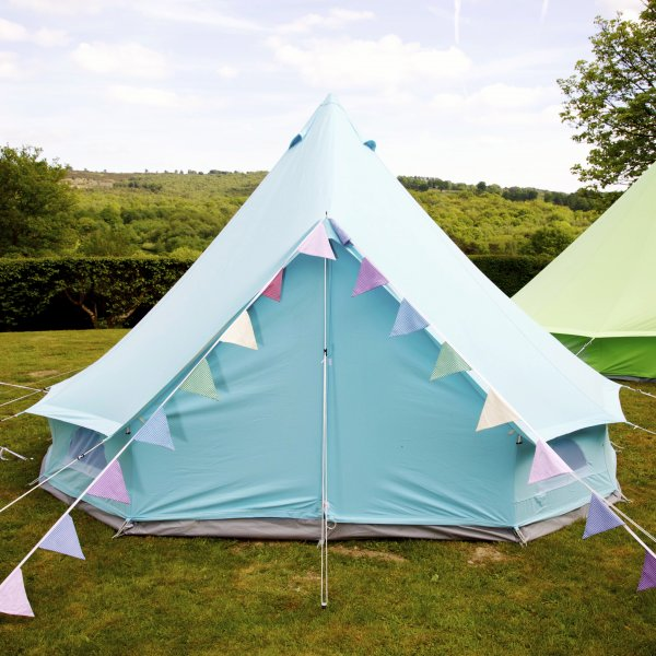 Sky Blue Bell Tent With Zipped in Ground Sheet & Sky Blue Bell Tent With Zipped In Ground Sheet - Buy Cotton Canvas ...