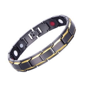 Bio Power Energy Therapy Healthy Ceramic Anti Radiation Magnetic Clasp Bracelet