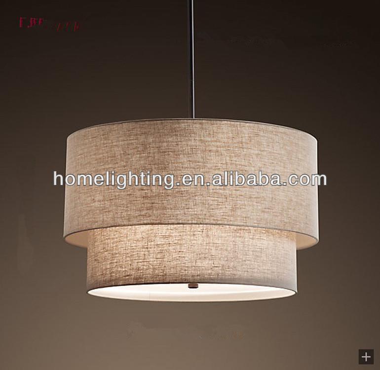Fabric Shade Pendant Hanging Light Lamp