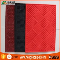 wholesale market 100%polyester washable chinese floor mat with loop pile for bath