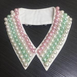 Fashion Jewelry Retro Women White/Black Pearl Handmade Collar Pearl Necklace
