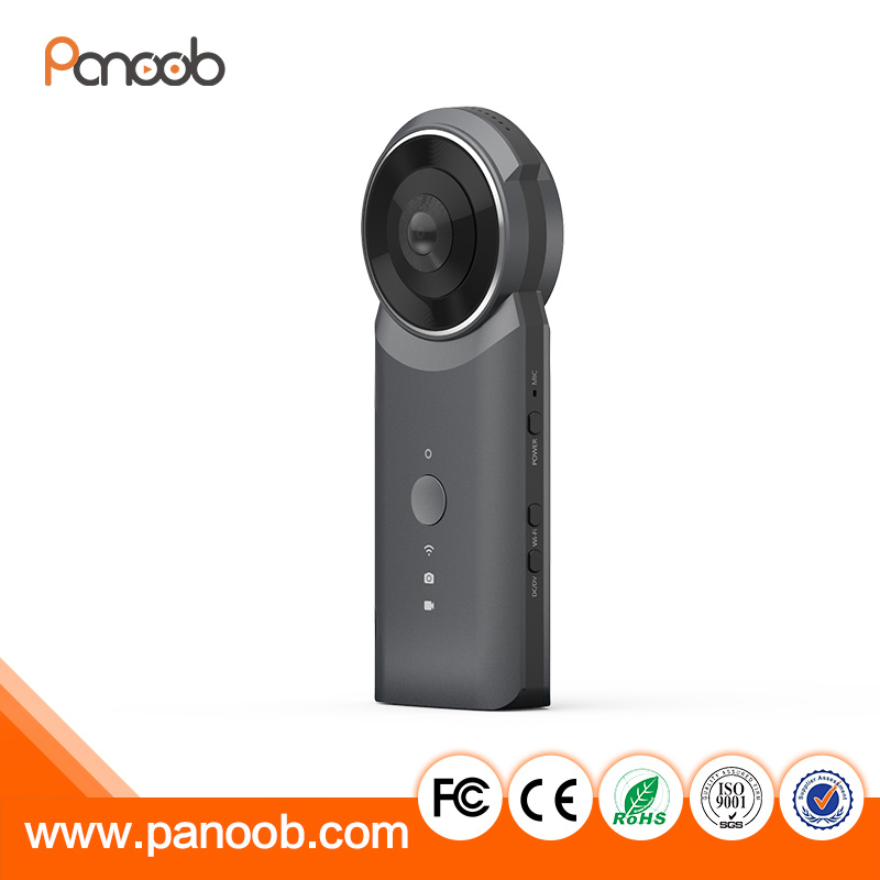 Handheld 360 Panoramic WiFi VR Video Camera Action Sports Cam with Dual 210 Spherical Lens 1920 * 960 Full HD