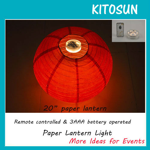 Original Paper Lantern Lighting Super Bright Warm White LED Light For Mid Autumn Festival