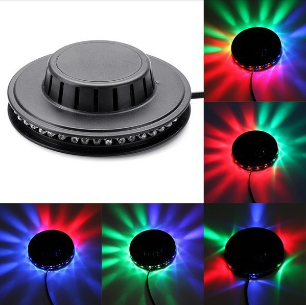 Portable multi UFO LED music Laser Stage Lighting Adjustment Party Wedding Club Projector light US or EU plug