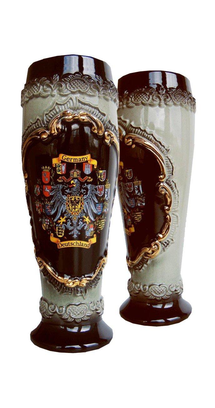 German Beer Stein black Deutschland pewter eagle wheat beer cup 0.5 liter tankard, beer mug ZO 1543S600