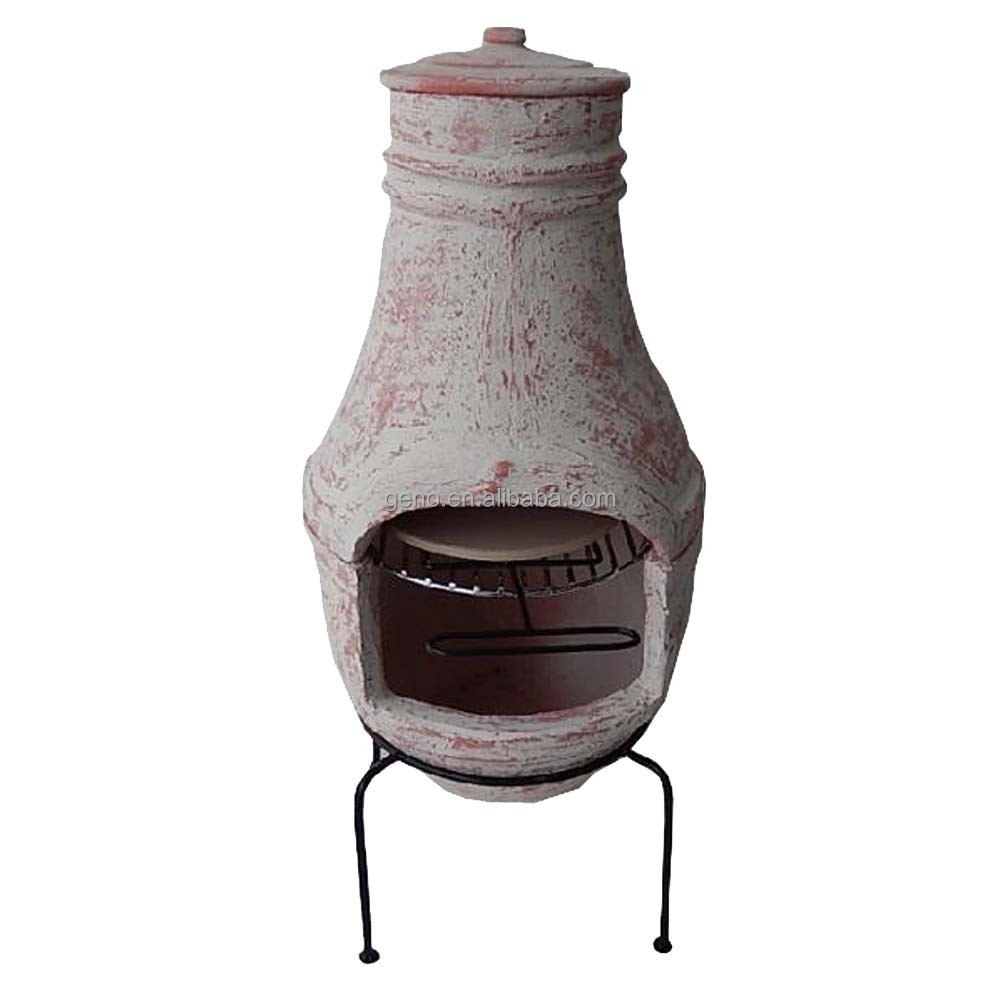 Clic Wood Burning Clay Chiminea Stands Product On Alibaba
