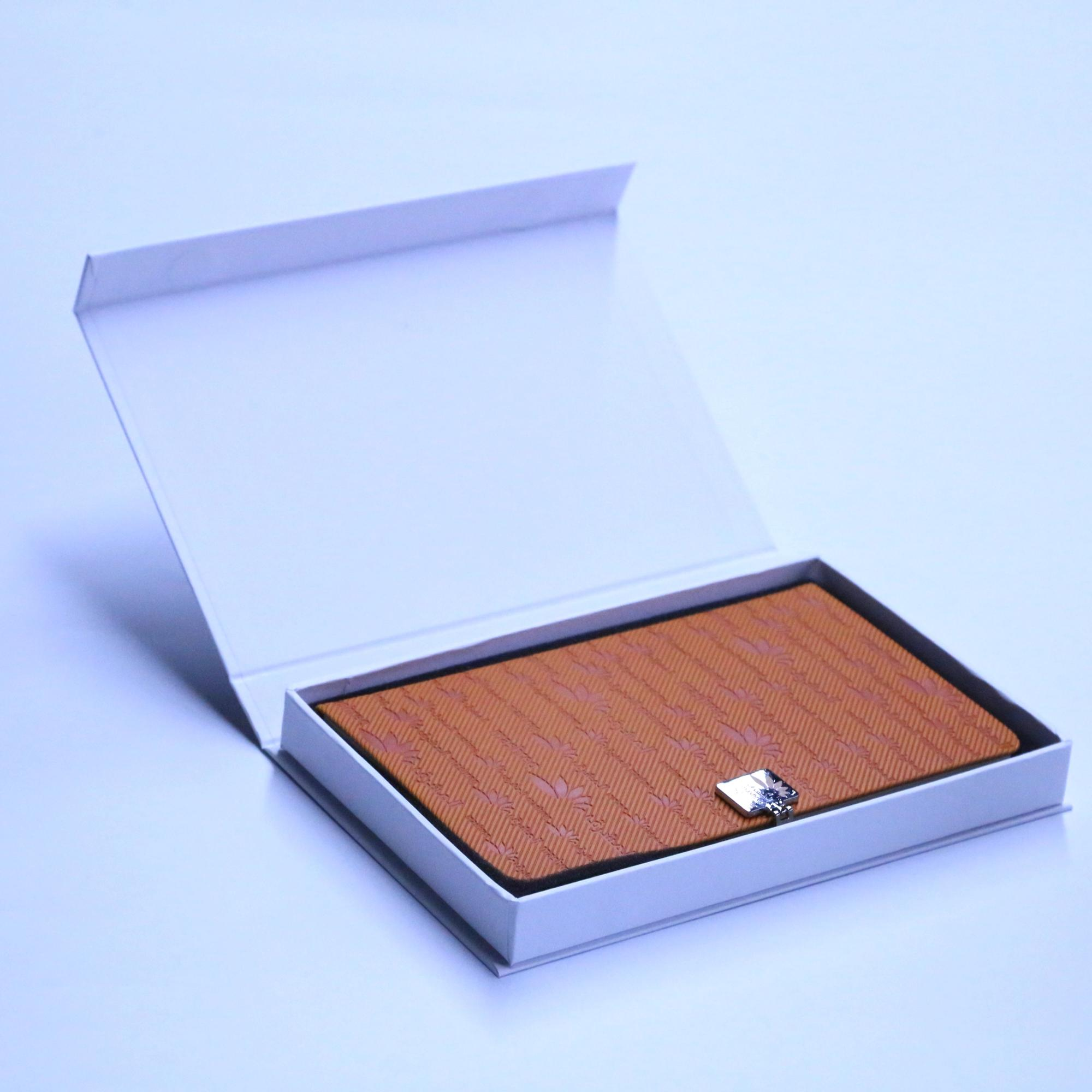 China good supplier leather planner with metal lock