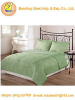 3-Piece Paisley Printed Duvet Cover Set Queen Full Green White