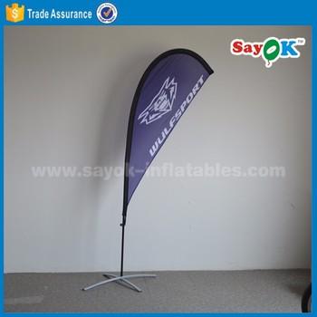 flages bannarカスタムビーチフラッグスタンド付き水ベースのため販売