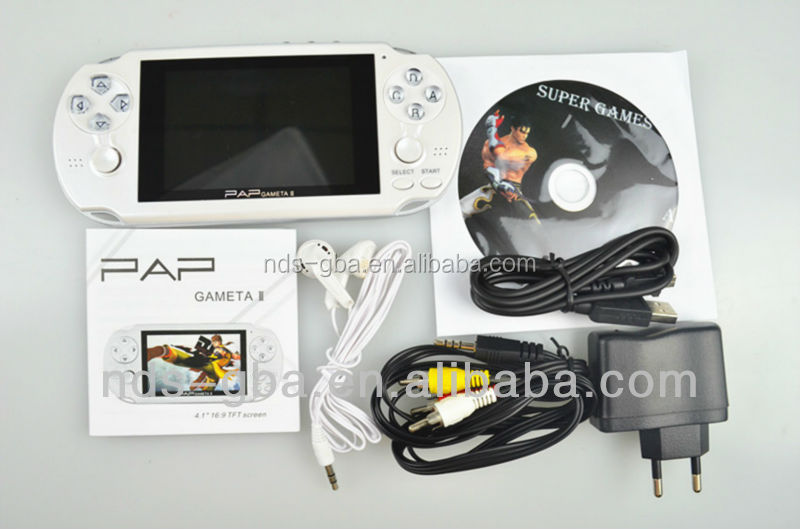 "64bit ultraslim 4.0 ""HD Sreen TV Out HD digital handle game player with Camera MP4 MP5"