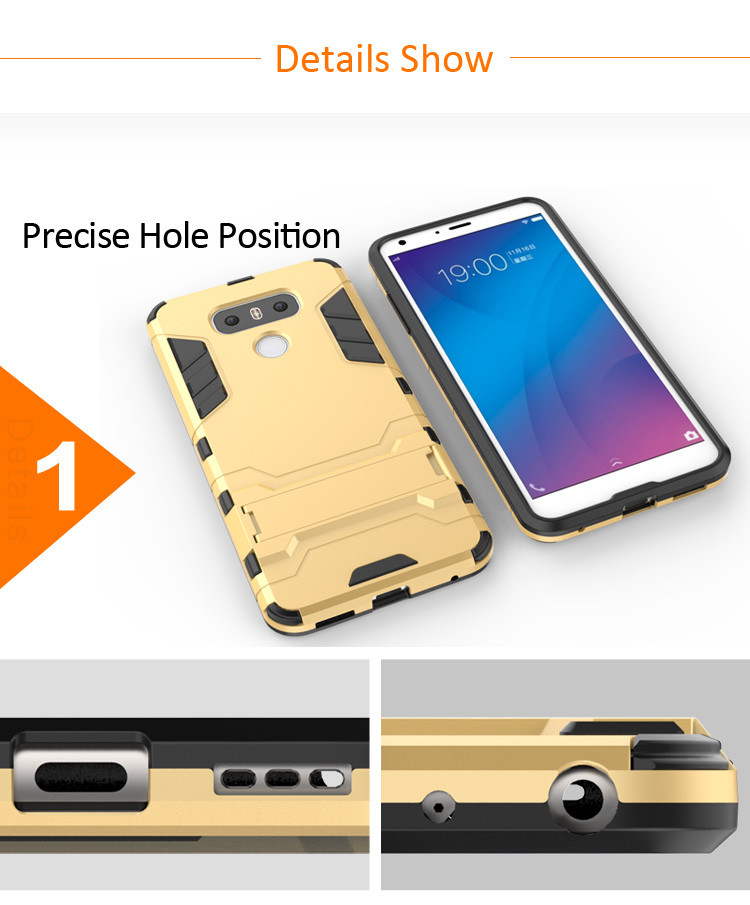 Factory supply Kickstand custom phone back cover case for lg g6 g5 g4 g3 g2,for lg x power x screen