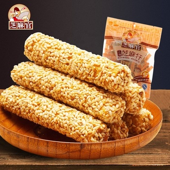 Zhimaguan Brand Baked grain snack FDA certificate rice crackers with White sesame