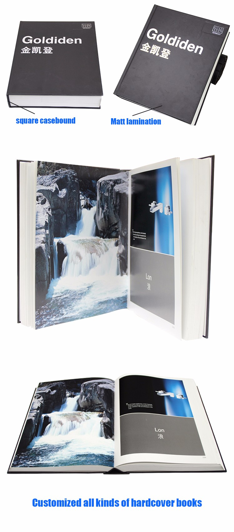 Custom-made China my hot book printing company hardcover book printing thick catalog book