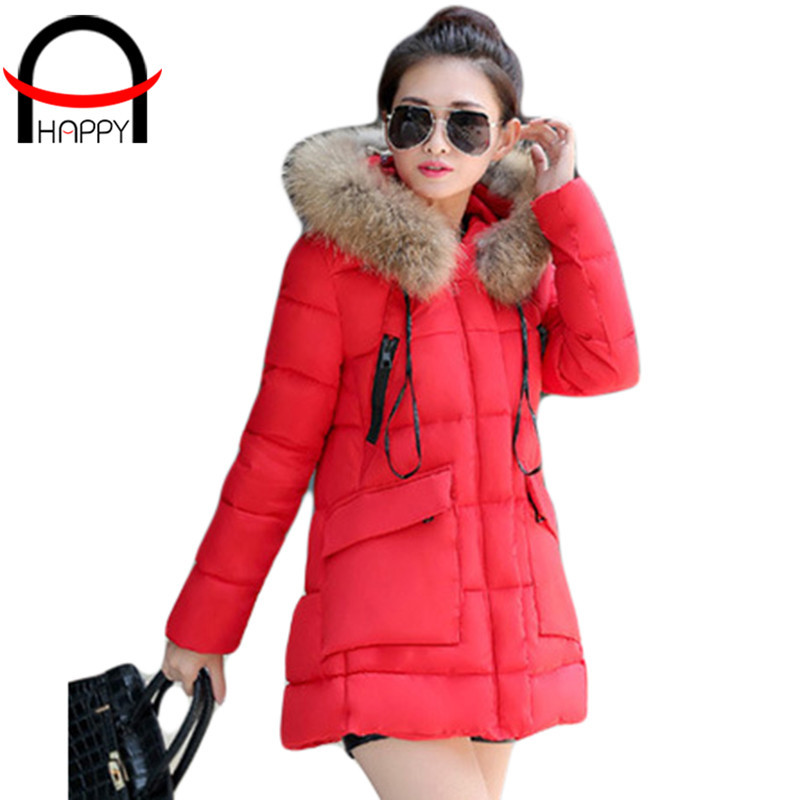 2015 New Hot Sale Fashion Winter Ladies Cotton Coat Casual Zipper Solid Color Cotton-padded Slim Elegent Parka Size M-3XL WD1096