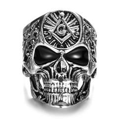 Punk Pirate Hollow Skull Men Finger Rings Cheap Price Gold Plated for Men's Decoration Gifts
