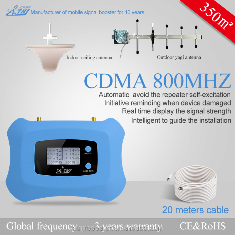 GPRS CDMA 800 mhz 2g 3g smart cell phone signal booster