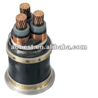 China top quality high voltage 11KV 3 core Copper conductor XLPE insulated steel tape armored PVC sheathed power cable