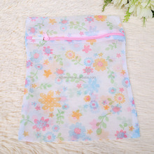 J092 thickened printing mesh zipper dry cleaning laundry bag