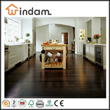 Smooth surface black stained indoor bamboo flooring