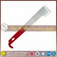 stainless steel red painted J shape hive tool
