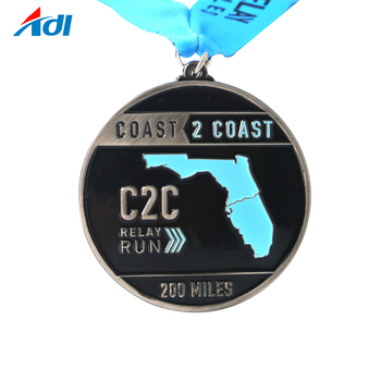 Custom finisher sports metal blank  medals with LOGO