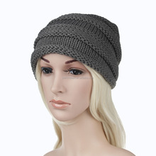 Hot-sales girl knitted hat hair ball cap women warm knitted hat
