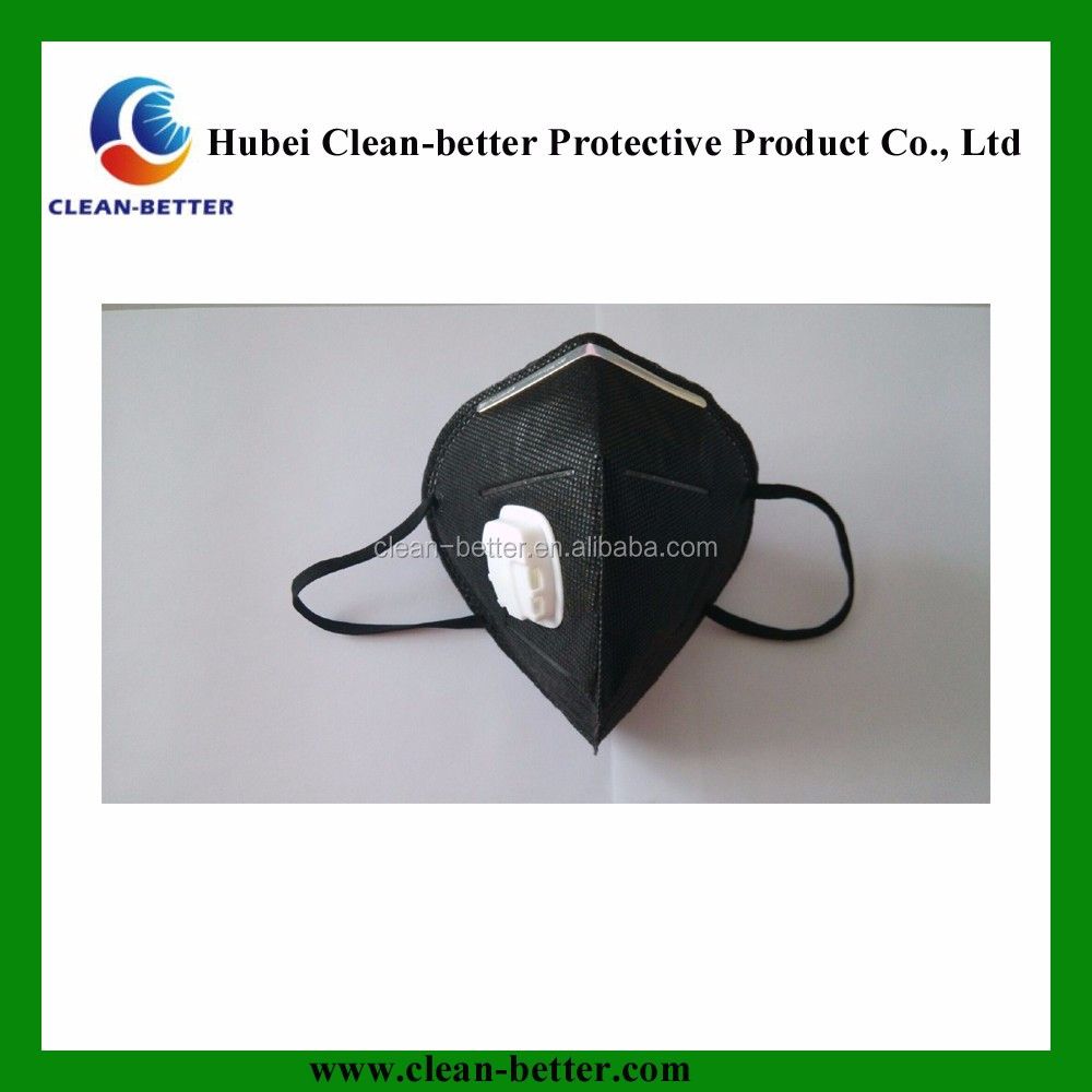 Disposable 3 ply non woven face mask N95 fold respirators dust mask air pollution face mask