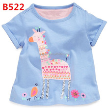 Friendly skin color Stylish cheap comfort short sleeve Compressed breathable children 70% polyester 30% cotton t-shirt